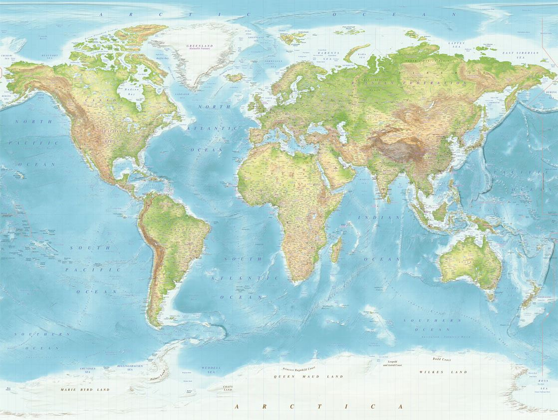 Mural World Map 364196