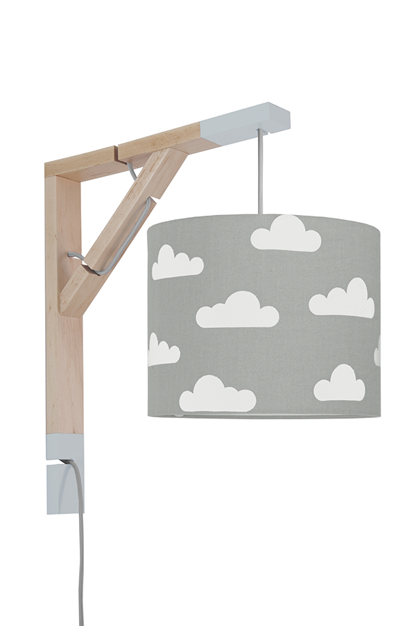 Lampa Simple youngDECO Chmurki na szarym