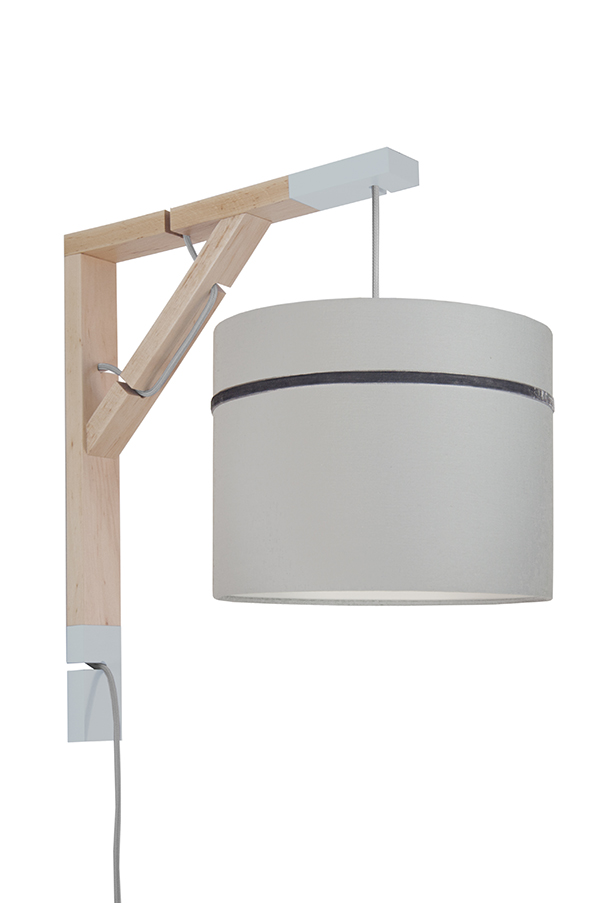 Lampa Simple youngDECO Porcelanowy szary