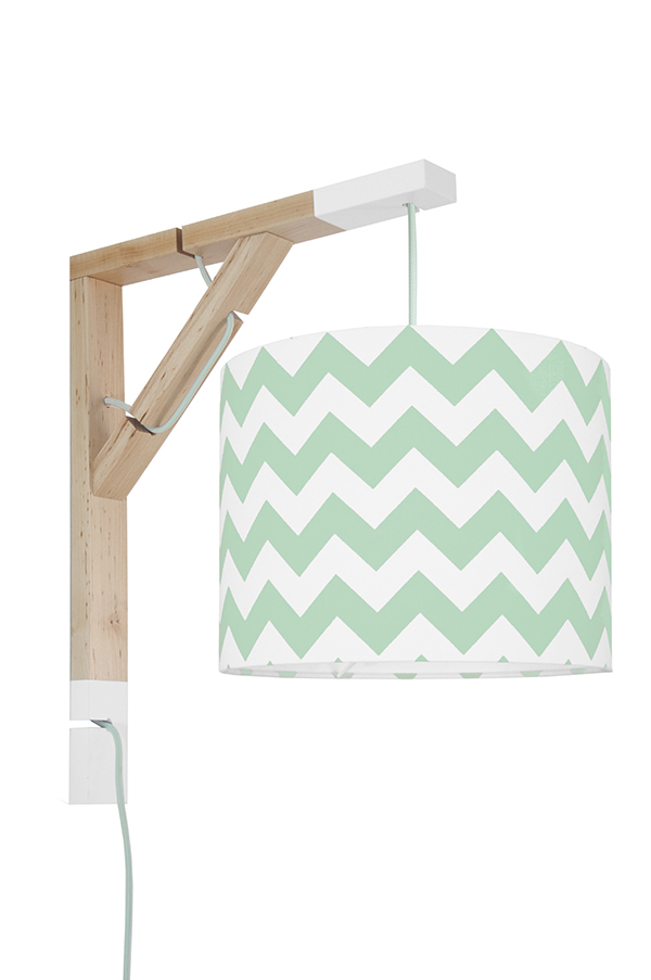 Lampa Simple youngDECO Chevron miętowy
