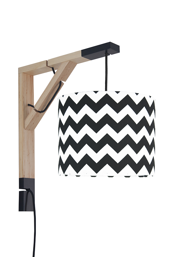 Lampa Simple youngDECO Chevron czarny