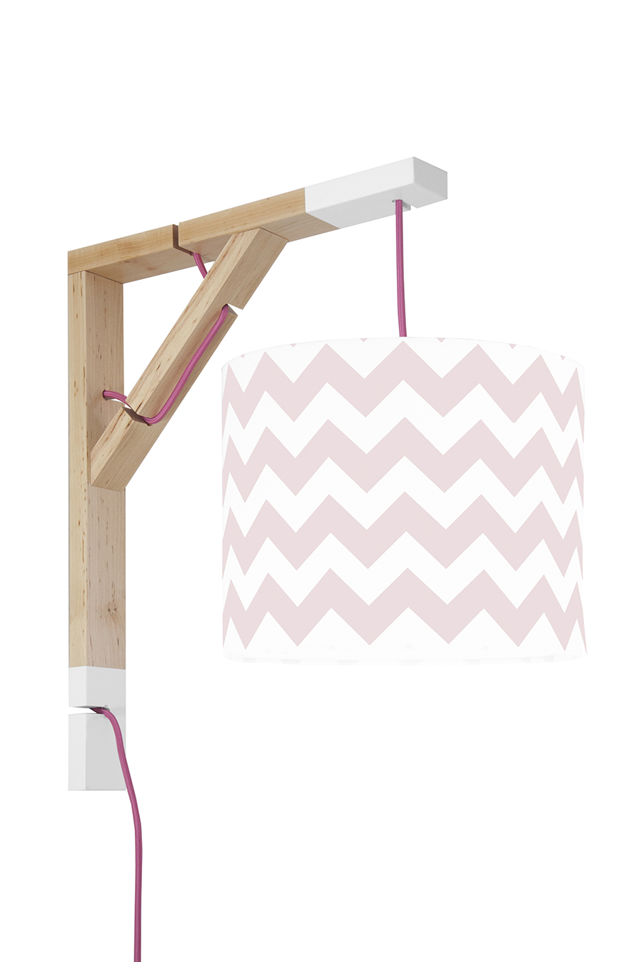 Lampa Simple youngDECO Chevron różowy