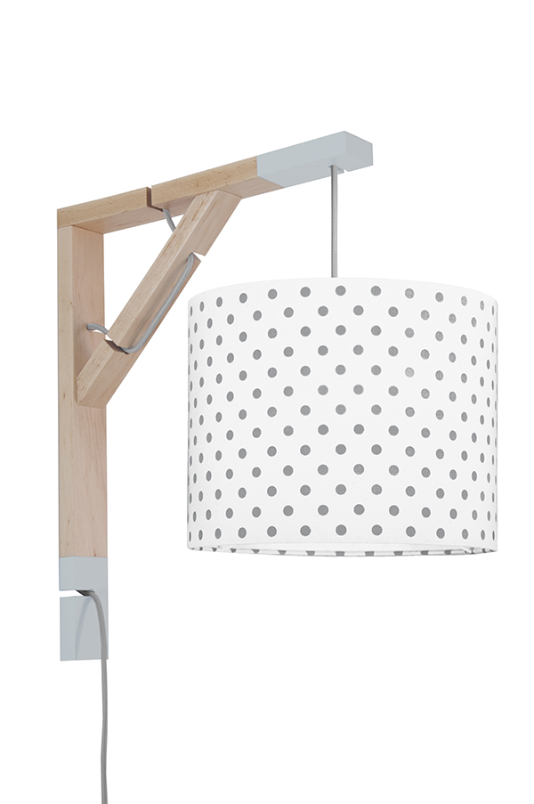 Lampa Simple youngDECO Grochy szare